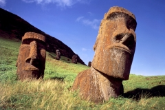 Easter Island Statues on Rano Raraku